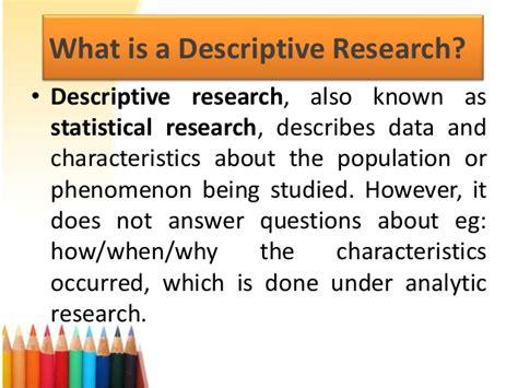 descriptive research advanced technical writing