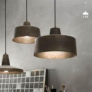 Suspension Luminaire Industriel : suspension luminaire design industriel en fer vieilli jean ii fanale ~ Teatrodelosmanantiales.com Idées de Décoration