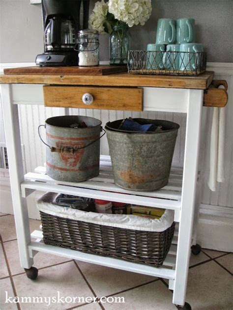 Hometalk   Dirty Paint Shelf to Cute Coffee Cart
