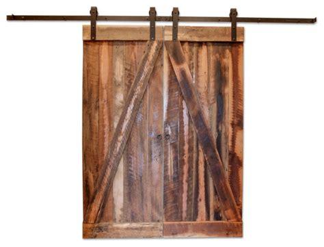 houston reclaimed barn wood door rustic interior doors