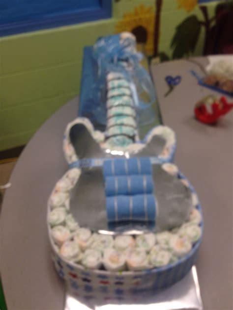 diaper guitar cake    receiving blankets