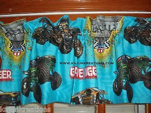 grave digger monster truck fabric lined custom valance with max destruction grave digger