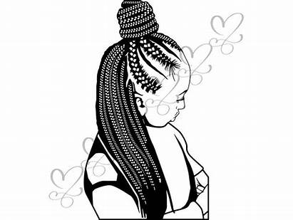 Dreads Braids Svg Woman Hairstyle African Clipart