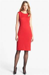 Dressing New York : jones new york mallory ponte sheath dress in red lyst ~ Dallasstarsshop.com Idées de Décoration
