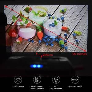 2020 X20 Video Portable Pico Projector 2200 Lumens Native