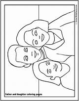 Coloring Pages Daughter Father Print Dad Fathers Getdrawings Getcolorings sketch template