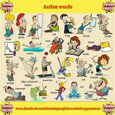 Action Verbs  Action Words Learning English Grammar Pdf  Galerie  English Verbs, English