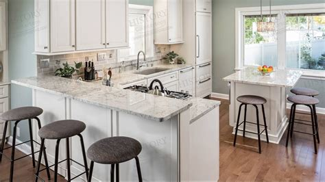 White Kitchens With Granite Countertops by River White Granite Countertops In Kitchen