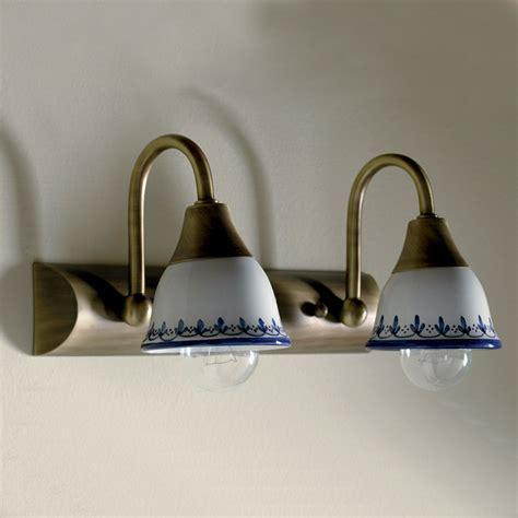applique stile country predisporre il sistema di illuminazione bagno con stile