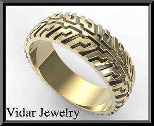 tire tread wedding ring vidar jewelry unique custom With tire wedding ring