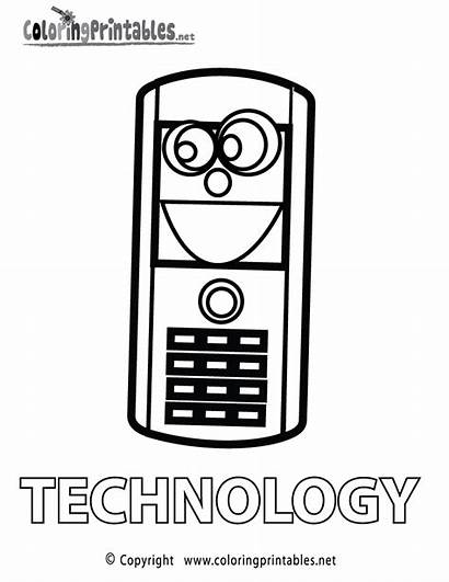 Technology Coloring Pages Educational Printable Coloringprintables Printables