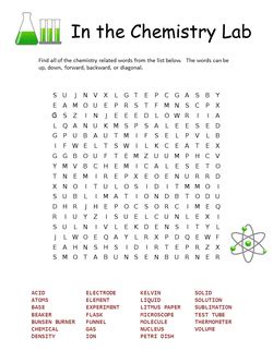 chemistry word search