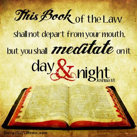 Daily Bible Meme - joshua 1 8 daily bible meme
