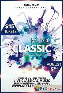 Classic Music PSD Flyer Template + Facebook Cover » Free ...