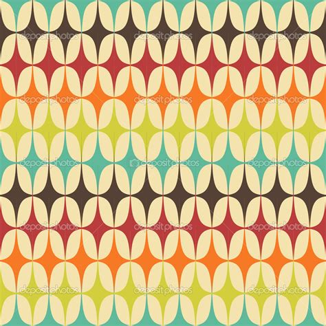 Abstract Retro Geometric seamless pattern with triangles ...