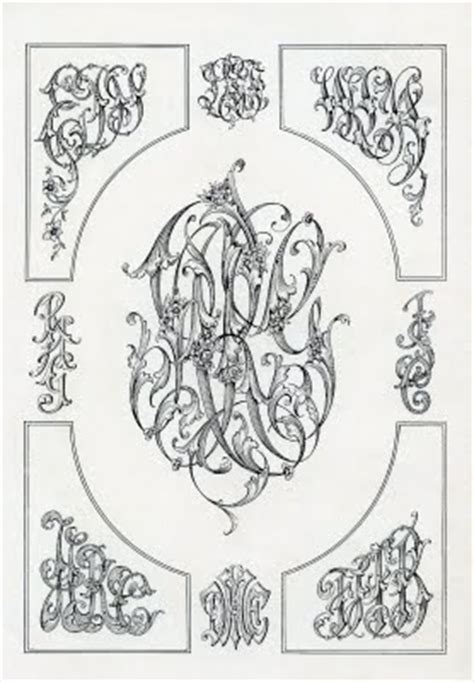 vintage clip art monogram ephemera  graphics fairy