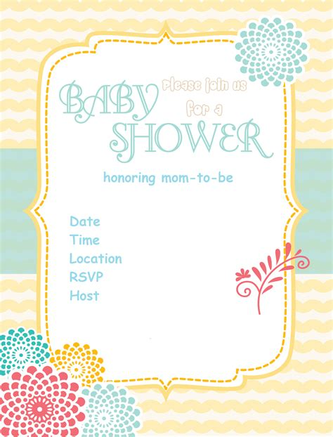 Kitchen Tea Party Invitation Ideas - free printable baby shower invitations baby shower ideas themes games