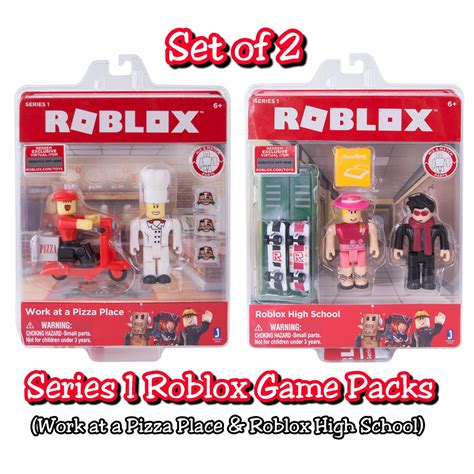 Set Of 2 Roblox Series 1 Game Packs Work At A Pizza Place
