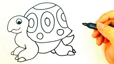 como dibujar una tortuga  ninos dibujo de tortuga paso  paso youtube