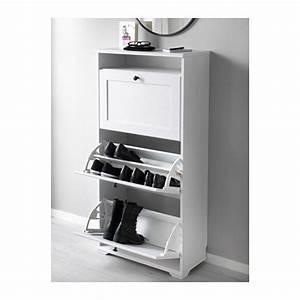 Brusali Ikea Schrank : schuhschrank 3 f cher brusali wei home schuhschrank schrank und ikea ~ Orissabook.com Haus und Dekorationen