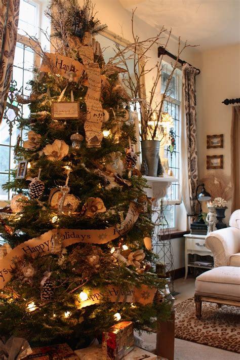 rustic christmas tree decorations my sweet savannah a home tour stephanie s house