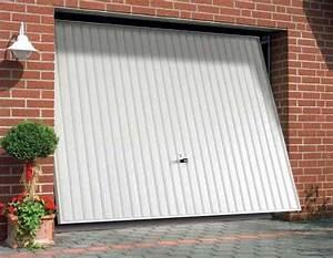 porte de garage en acier basculante mais non debordante With porte en acier galvanise