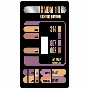 Artissimo Designs San Diego Star Trek Lcars Light Switch Cover Roddenberry Star