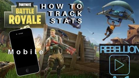 track fortnite stats  mobile youtube