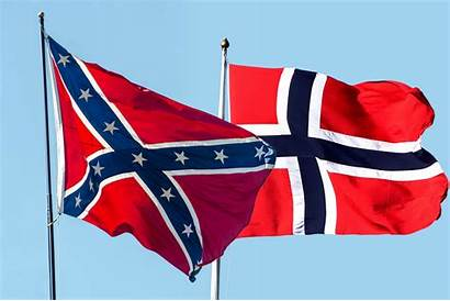 Flag Norwegian Confederate Mistaken Removed Inn Istockphoto