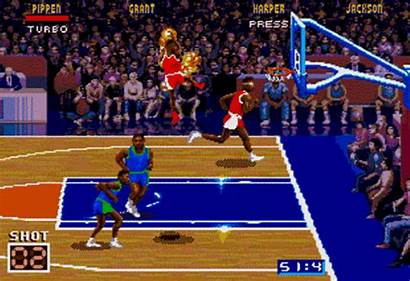 Nba Jam Shot Fire Clock Violation Sega
