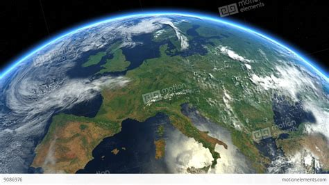 Images Of Earth From Space Europe From Space Earth From Space Stock Animation 9086976