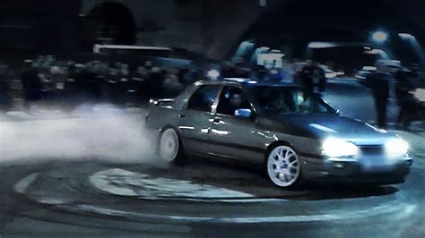 ford sierra rs cosworth street drifting  burnouts