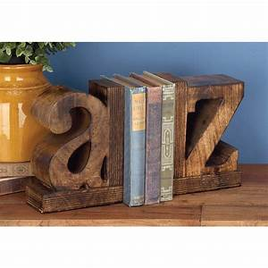 9, In, X, 6, In, A-z, Wooden, Bookends-14413