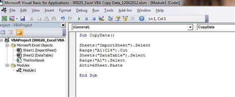 how to copy data to another worksheet with excel vba