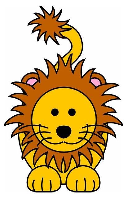Lion Cartoon Clipart Animated Animation Golden Clip