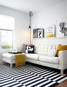 Tapis Scandinave Noir Et Blanc : d co salon scandinave astuces design et id es l gantes ~ Melissatoandfro.com Idées de Décoration