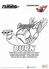 Turbo Coloring Burn Drawing Printable Cartoon Supercoloring Paper Categories sketch template