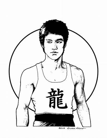Bruce Lee Drawing Getdrawings Clipartmag
