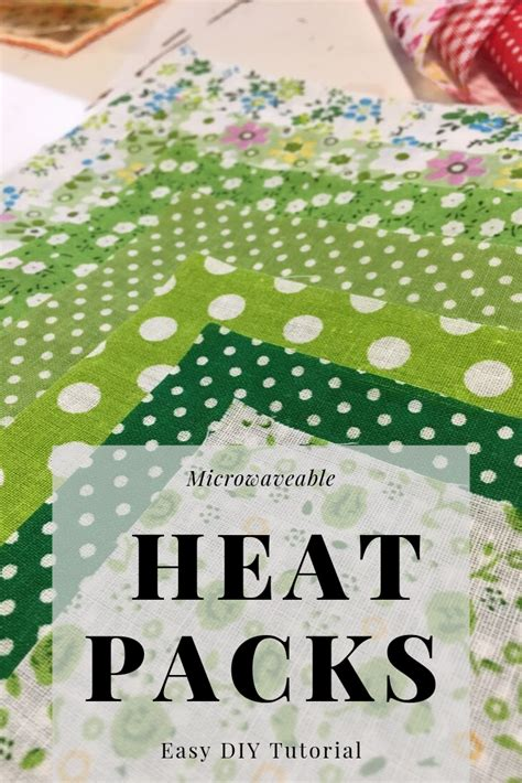 beginners diy wheat heat pack  images homemade