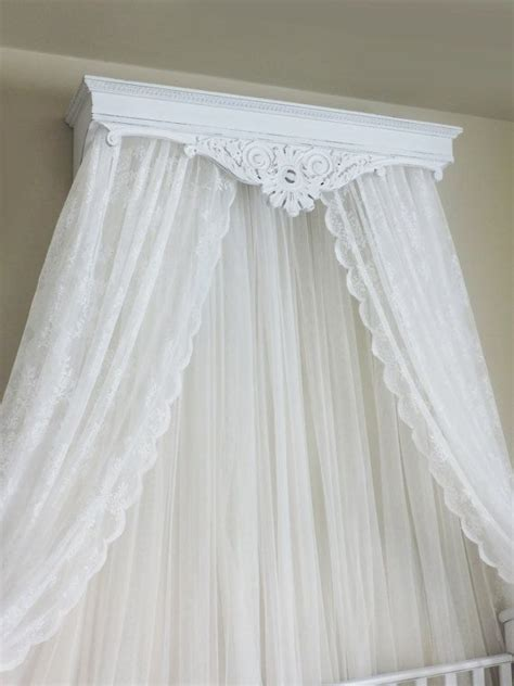 bed crown canopy crib crown wall cornice canopy french