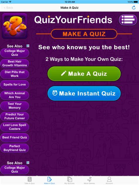 Best Quiz Quiz Your Friends Take Popular Quizzes Tips Cheats