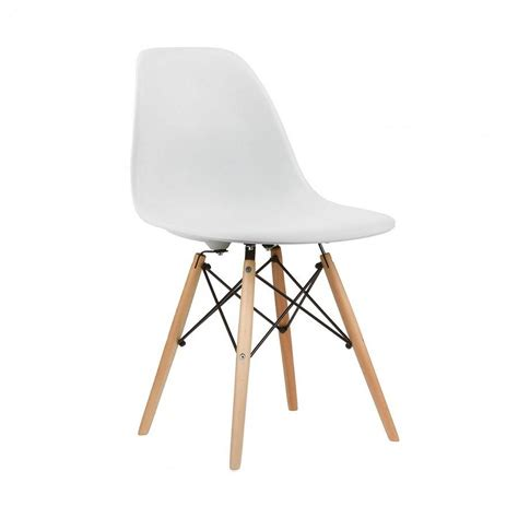 chaises design blanche eames style dsw chair 14 colours available by zazous