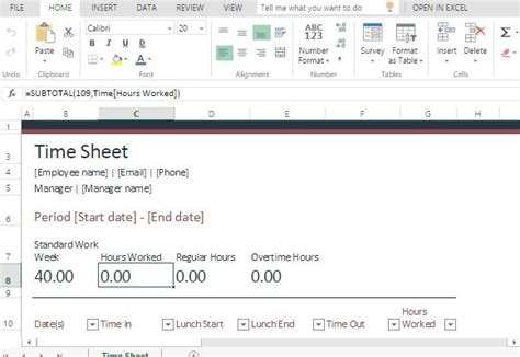 Time In Sheet Template Online Free by Time Sheet Template For Excel Online