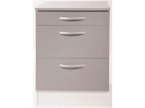 meuble bas cuisine 60 cm meuble bas 60 cm 1 tiroir 2 caissons spoon color coloris