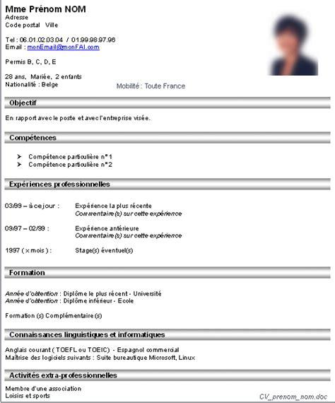 Ecrire Resume En Francais by Exemple Cv