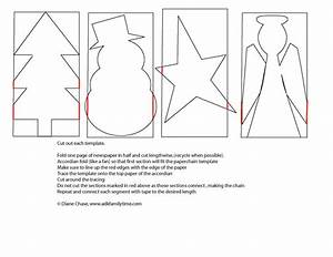 craft christmas paper chain template With snowman paper chain template