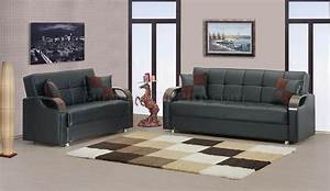 soho sofa bed in black bonded leather by rain w optional items With soho sofa bed