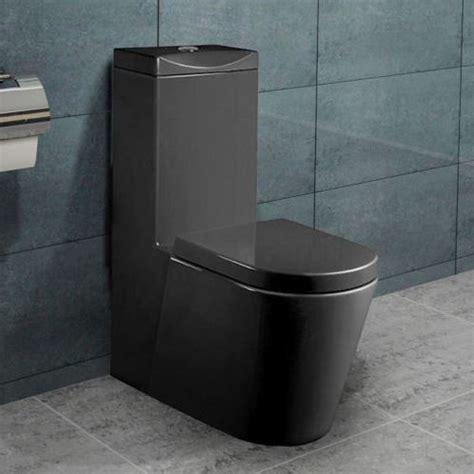 Standwc Toilette Mit Integriertem Spülkasten Schwarz Mit