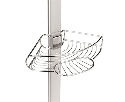 Floor To Ceiling Tension Rod Shelves by Simplehuman Stainless Steel Tension Shower Caddy