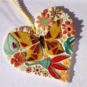 Mosaic butterfly art ceramic flowers art unique mosaic